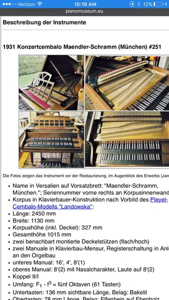 Schramm München antique german harpsichord antique steinway piano parts