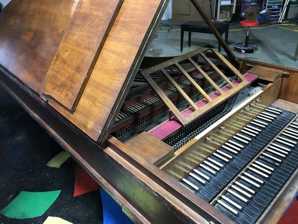 Schramm München antique german harpsichord antique steinway piano parts