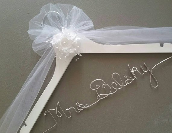 Personalized wedding hanger for the perfect wedding dress - she ...