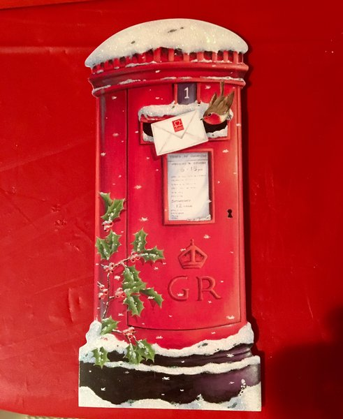 British Telephone Box Christmas Card
