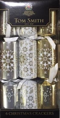 Tom Smiths Silver, Gold & White Cube Cracker (6 pk)