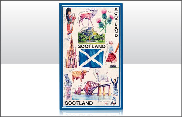 Iconic Scotland Tea Towel