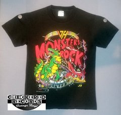 Vintage 1988 Van Halen Monsters Of Rock Official Concert T-Shirt Yessup Merchandising Company Medium Spring Ford Classic Sportswear T-Shirt