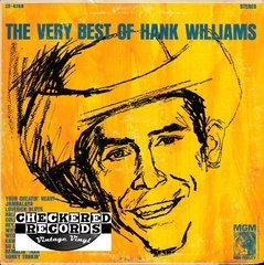 Vintage Hank Williams The Very Best Of Hank William 1965 US MGM Records ST-90511 SE-4168 Vintage Vinyl LP Record Album