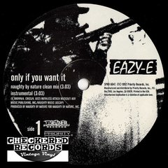 "Vintage Eazy-E ‎Only If You Want It / Neighborhood Sniper Promo 12"" Promo First Year Pressing Ruthless Records ‎SPRO 6647 Vintage Vinyl LP Record Album"