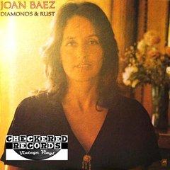 Vintage Joan Baez Diamonds & Rust First Year Pressing 1975 US A&M Records SP-4527 Vintage Vinyl LP Record Album