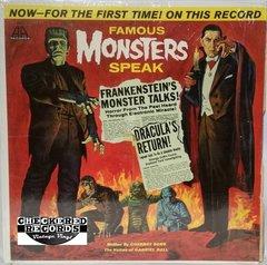Vintage Cherney Berg Famous Monsters Speak 1963 US A.A. Records AR-3 Vintage Vinyl LP Record Album