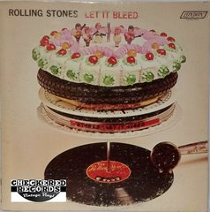 Vintage Rolling Stones Let It Bleed First Year Pressing 1969 US London Records NPS-4 Vinyl LP Record Album