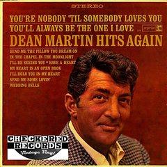Vintage Dean Martin Dean Martin Hits Again First Year Pressing 1965 Reprise Records RS 6146 Vintage Vinyl LP Record Album