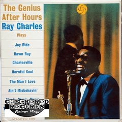 Vintage Ray Charles The Genius After Hours First Year Pressing 1961 US Atlantic 1369 Vintage Vinyl LP Record Album
