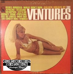 Vintage The Ventures ‎Golden Greats By The Ventures First Year Pressing 1967 US Liberty LST-8053 Vintage Vinyl LP Record Album
