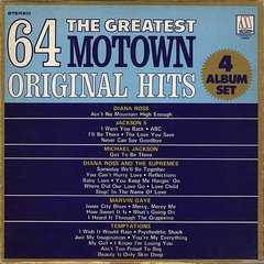 Vintage Various Motown Artists The Greatest 64 Motown Original Hits 4 LP Record Box Set First Year Pressing 1975 US Motown CIMCO Vintage Vinyl LP Records