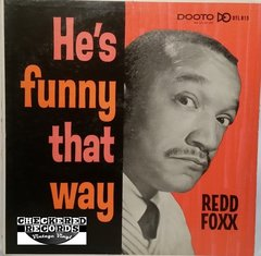 Vintage Redd Foxx He's Funny That Way First Year Pressing 1964 US Dooto Records ‎– DTL 815 Vintage Vinyl LP Record Album