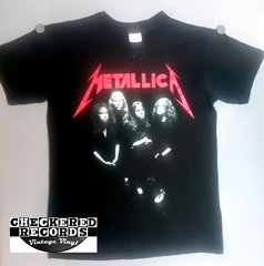 Vintage 1988 Metallica And Justice For All Band Photo Concert Tour T-Shirt Hugger T-Shirt Large