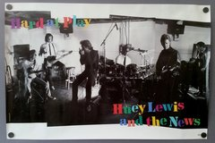 """Vintage 1991 Huey Lewis And The News Hard At Play Promotional Record Store Poster 36"""" X 24"""""""