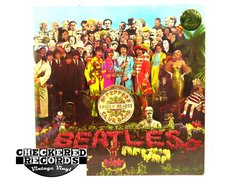 Vintage The Beatles Sgt. Pepper's Lonely Hearts Club Band First Year Pressing ODEON FRANCE Odeon PCS 7027 1967 VG+ Vintage Vinyl LP Record Album