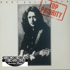 Vintage Rory Gallagher Top Priority With Liner Notes First Year Pressing 1979 US Chrysalis CHR 1235 Vintage Vinyl LP Record Album