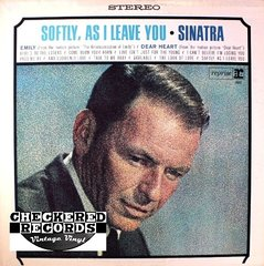 Vintage Frank Sinatra Softly, As I Leave You First Year Pressing 1964 US Reprise FS 1013 Vintage Vinyl LP Record Album