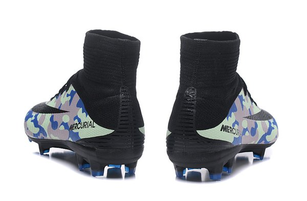 fd606db829c06 Camouflage Blue Mercurial X Superfly IV Camo High Top Football Soccer Boots  Cleats