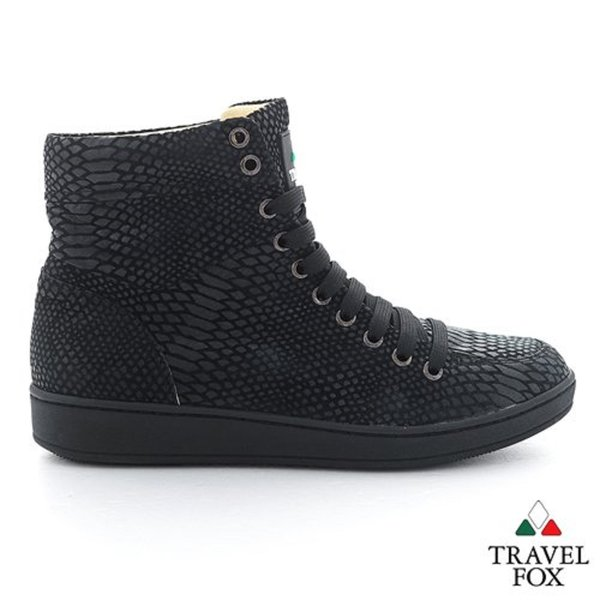 Men Travel Fox Shoes Snake Skin