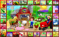Farm Alphabet Placemat