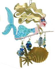 Blue Mermaid Fanciful Flight