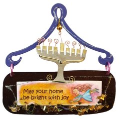 Menorah Mini Plaque
