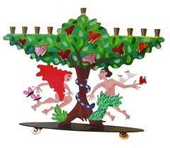 Adam and Eve Menorah