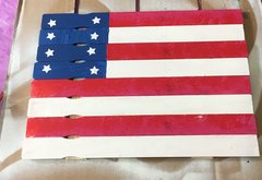 May 14: Red, White, and Blue Flag Workshop - Adults