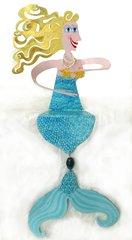 Blue Mermaid Shelf Sitter