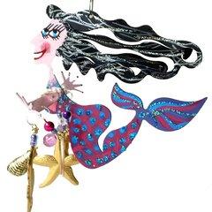 Purple Mermaid Fanciful Flight
