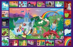 Enchanted Kingdom Alphabet Placemat- Hebrew