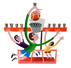 Basketball Menorah