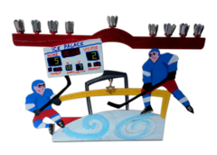 Hockey Menorah