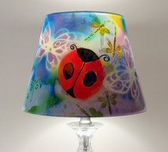 Ladybugs, Butterflies and Dragonflies Lampshade