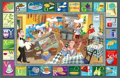 Kosher Deli Alphabet Placemat