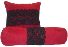 Lace Pillow Set in Microfiber Suede