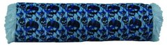 Blue Skulls Cylinder Pillow