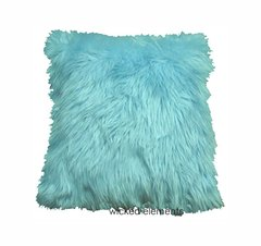 Baby Blue Faux Fur Pillow (small)