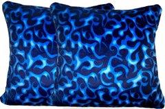 Blue Flames Pillow Set