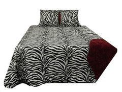Zebra Print Bed Cover and Pillows