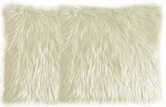 Cream Faux Fur Pillow Set