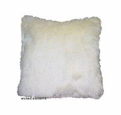 Cream Faux Fur Pillow (small)