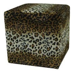 Leopard Cube Ottoman