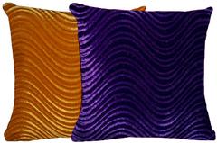 Purple & Gold Pillow Set