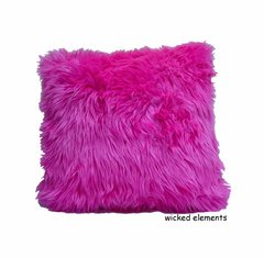 Hot Pink Faux  Fur Pillow (small)