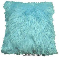 Baby Blue Faux Fur Pillow (large)