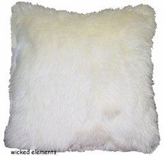 Cream Faux Fur Pillow (large)