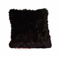 Black Faux Fur Pillow (small)