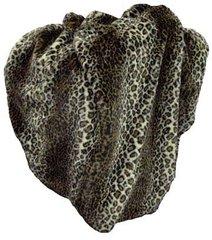 Faux Fur Leopard Throw